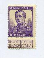 1912 BELGIQUE, PELLENS 2 FR COB 117, Neuf * MH Cote 22,5 € - 1912 Pellens