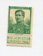 1912 BELGIQUE, 40 Ct COB 117,neuf * MH - 1912 Pellens