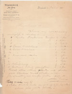 1901 Facture Lettre Invoice Bloemisterij Johan Germ Dordrecht Singel - Pays-Bas