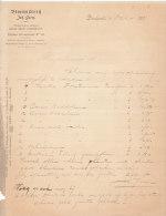 1901 Facture Lettre Invoice Bloemisterij Johan Germ Dordrecht Singel - Paesi Bassi