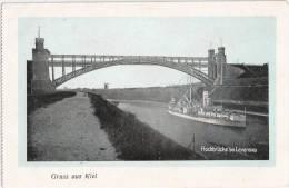 Gruss Aus Kiel Hochbrücke Bei Levensau Mit Krieg Sschiff Und Windmühle Ungelaufen - Kiel