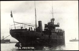 Foto Ak Italienisches Kriegsschiff, Nave Prometeo, In Fahrt, Fahne - Non Classés