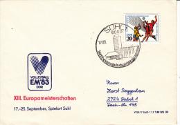 VOLLEYBALL-VOLEIBOL-VOLEY-BALONVOLEA, DDR/GDR, 1983, Special Cancellation !! - Volley-Ball