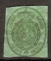 España U 0037ic (o) Escudo. 1855. Foto Exacta. Calcado Al Reverso - Gebraucht