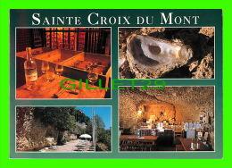 SAINTE CROIX DU MONT (33) - 4 MULTIVUES - VIN BLANC D'OR, GROTTES BANC D'HUITRES  - COMPA CARTERIE - - France