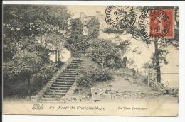 Forêt De FONTAINEBLEAU , La Tour Denecourt , 1907 - Fontainebleau