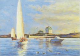 Aland Postcard 2010 Kobba Klintar - Sailing Boat - Lake - Ducks - Aland