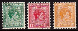 Saint Kitts & Nevis Scott   211,212,213 Short Set MNH - 1949-... Republic Of Ireland