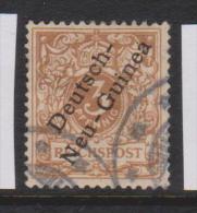 New Guinea German 1897 Overprints 3 Pf Yellow - Brown FU - Colonie: Nouvelle Guinée