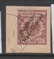 New Guinea German 1897 Overprints 50 Pf Red Brown VFU On Piece - Colonie: Nouvelle Guinée
