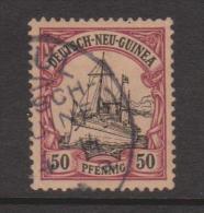 New Guinea German 1901 Kaisers Yacht 50 Pf FU - Colonie: Nouvelle Guinée