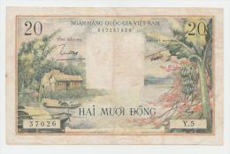 Viet Nam South 20 Dong 1956 VF+ P 4 - Vietnam