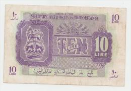 Libya Tripolitania 10 Lira 1943 WWII VF+ P M4 - Libye