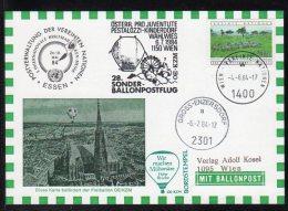 Autriche MIT BALLONPOST De 1984 Sur Les MONTGOLFIERES N°tée Au Dos. Carte En Parfait état. + Prix Dégressif. PA - Montgolfier