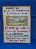 "Plaque Publicitaire ""CHOCOLAT NORMANDY"". - Placas De Cartón"