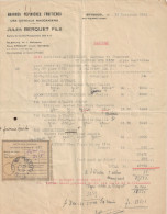FACTURE GRANDES PEPINIERES FRUITIERES J BERQUET SEYSSUEL 1942 +RECEPISSE MANDAT NICE ST BARTHELEMY - Factures & Documents Commerciaux