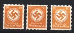 D.R.Dienst,143,3 Farbtöne,xx (133) - Dienstpost