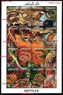 LIBYA 1996 MNH SHEET REPTILES ANIMALS SNAKE TURTLE LIZARD COPRA ROCK TREE HOME - Libië