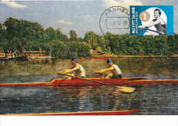 D14420 CARTE MAXIMUM CARD 2012 NETHERLANDS - ROWING OLYMPIC WINNER NICO RIENKS CP ORIGINAL - Rowing
