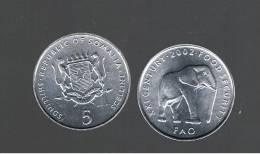 SOMALIA - 5 Shilling 2000 FAO Elefante - Elephant  KM45 - Somalia
