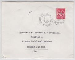 1963 - POSTE NAVALE - ENVELOPPE FM De LORIENT ECOLE MARINE (MORBIHAN) - Marcophilie (Lettres)