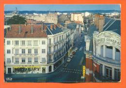 "Dpt  65  Tarbes  ""  Rue Marechal Foch  "" Cpsm Gf - Banque Societe Generale - Tarbes"