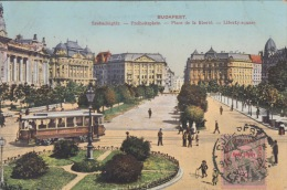 Boedapest    Tram   Liberty Square            Scan 5617 - Hungary