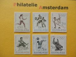 Yugoslavia 1968, OLYMPICS OLYMPIADE OLYMPIQUES / MEXICO: Mi 1290-95, ** - Summer 1968: Mexico City