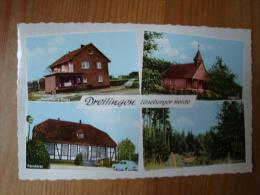Dreilingen, 4 Ansichten, Lebensmittel Roemarie Gade, Försterei, Kapelle, Waldpartie, Gelaufen - Uelsen