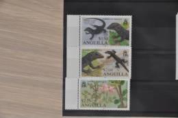 C 168 ++ ANGUILLA ENDEMICS  LIZARD REPTILE FLOWERS FLEUR MNH ** NEUF VERY FINE - Anguilla (1968-...)