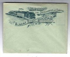 Enveloppe , Publicité : Moulins De Chateauneuf Sur Sarthe , Albert BOUET , Vierge - Publicités