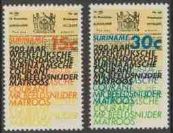 "Suriname 1974 Mi 675 /6 ** Surinam's ""Weekly Wednesday"" Newspaper / ""Weekelijksche Woensdagsche Surinaamse Courant"" - Andere"