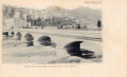 [DC6628] VENTIMIGLIA (IMPERIA) - PONTE SUL FIUME ROJA E PARTE DELLA CITTA' ANTICA - Old Postcard - Imperia