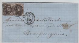 01324a Bruxelles Brussel 1859 P24 V. Strépy Bracquegnies - Postmark Collection