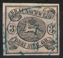 Braunschweig 7/6 Auf 3 Sgr. Mattgraurot - Braunschweig Nr. 8a - Pracht - Tiefst Geprüft BPP - Braunschweig