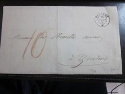 28 Juillet 1860 Lettre (mignonnette)+Courrier De PAYERNE  Suisse Helvetia-Pr Avocat Yverdon (Taxe) - 1854-1862 Helvetia (Non-dentelés)