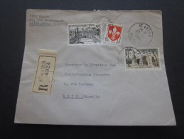 Lettre Recommandé Cachet à Date SAINT AVOLD  (Moselle)27 Janvier 1960 Affranchissement Composé >Metz - Postmark Collection (Covers)