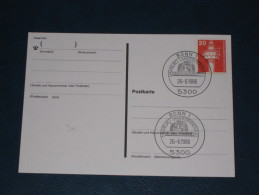 Karte Germany Bund Sonderstempel 1987 5300 Bonn Hamburg Landesvertretung Hummelfest - Machine Stamps (ATM)
