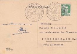 Cachet Du Tour De France à Mulhouse 1948 - Ciclismo