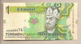 Turkmenistan - Banconota Non Circolata Da 1 Manat - 2012 - Turkmenistan