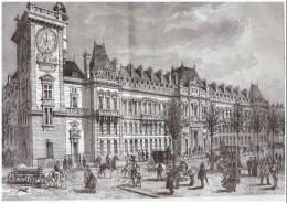GRAVURE D Epoque  1877 Paris   Le Nouveau Ministere  De La Guerre   Boulevard Saint Germain  Percement Haussmann   Ilot - Non Classificati