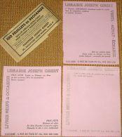 Lot De 3 Buvards : Librairie Joseph GIBERT - TOULOUSE + 1 Bandeau - Stationeries (flat Articles)