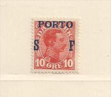 DANEMARK   ( D15 - 3437 )  1921    N° YVERT ET TELLIER    N° 4  N* - Portomarken