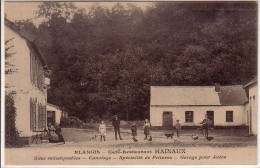 BLANGIS.CAFE RESTAURANT HAINAUX.GARAGE POUR AUTOS.... - Francia