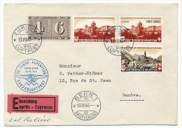 SUISSE - Enveloppe Par EXPRES Zürich Pour Berne - 1943 - 30 Jahre Alpenflug Sondernluftpost - Posta Aerea