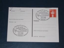 Karte Germany Bund Sonderstempel 1986 Frankfurt 25 Jahre Postleitzahlen  Ausstellung Briefpostautomation E.V.  ATM - BRD