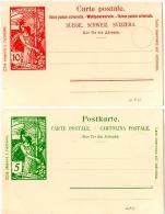 TEL-L24 - SUISSE 2 Entiers Postaux Neufs Jubilé De L'Union Postale Unviverslle 1875-1900 - Poste