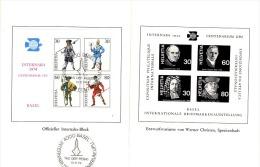 TEL-L31 - SUISSE Encart Avec Bloc N° 3 INTERNABA 1974 - Messagers Postaux - Bloques & Hojas