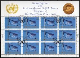 Nations Unies (New-York) - 2001 - Yvert N° 870 - Feuille Entière - New-York - Siège De L'ONU