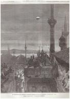 GRAVURE D Epoque  1877  Turquie  Constantinople ISTANBUL   Eclipse De Lune      27 Fevrier 1877 - Non Classés